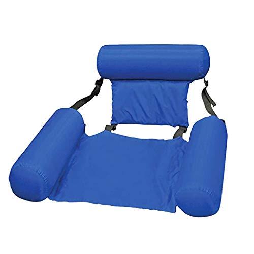 FUIW PVC Sommer aufblasbare klappbare schwimmende Reihe Strand Wassersportliege Luftbett