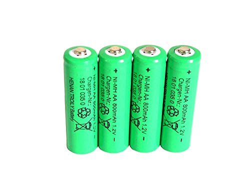 4 er Set Solar-Akku, leistungsstarke, wiederaufladbare Batterien AA- NiMH, 800mAh