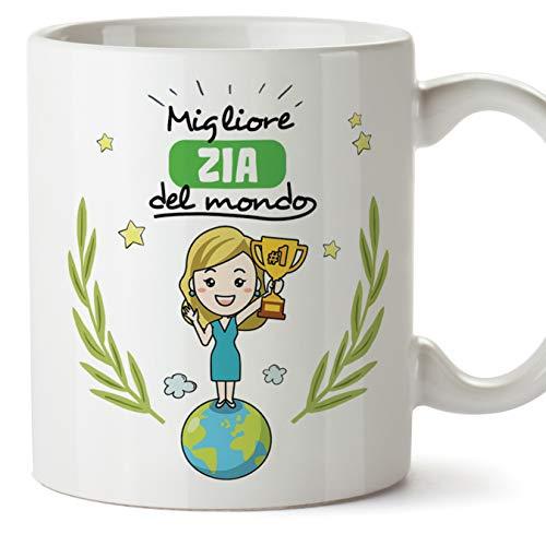 Mugffins Zia Tazza/Mug - Migliore Zia del Mondo - Idea Regalo Originale di Compleanno - Tazza Migliore Zia in Ceramica. 350 ml