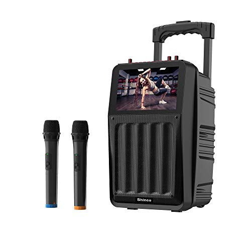 Shinco Karaoke Machine with 2 Microphone, 8