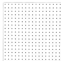 オリジナル有孔ボードWHITE(900x600x5.5mm) P25 【1枚セット 】●穴間ピッチ25mm 穴直径5mm