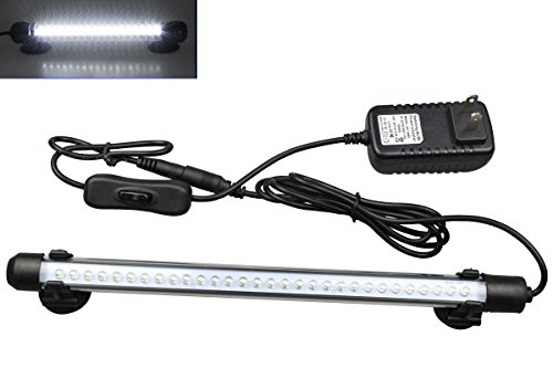MingDak LED Aquarium Light Kit for Fish Tank,Underwater Submersible Crystal Glass Lights Suitable for Saltwater and Freshwater,30 LEDs,11-inch,Lighting Color White