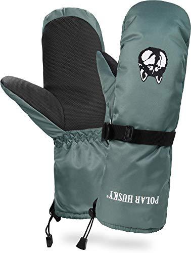 Polar Husky® Fäustling Thermo Winterhandschuhe mit Thinsulate Füllung Farbe Grau Größe M