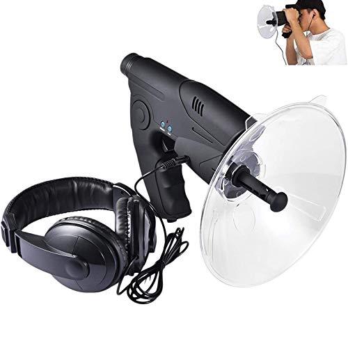 WENBING Micrófono direccional parabólico Bionic Ear, monocular X8 Veces de Larga Distancia, telescopio de Escucha de pájaros, Caminata por arbustos, Herramientas de Camping