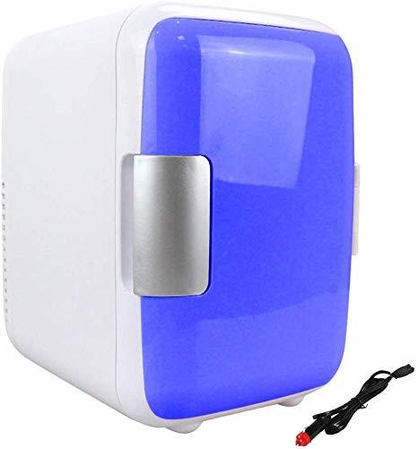 BestSiller Dual-Use Mini-Kühlschrank für Heim Verwendung, mit einem Lautstärke von 4L, Kann Platzierter mit Kosmetik, und EIN Integriert Top Griff Ermöglicht es Ihnen Tasche es mit Ihnen - Blau