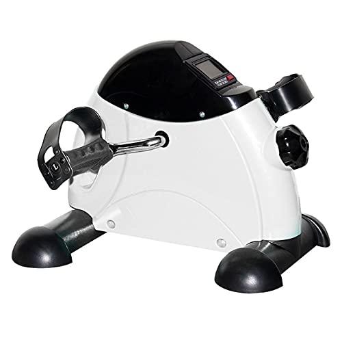 Mini-hometrainer, pedaaloefenaar, draagbare beenarmtrainingscyclus fiets, bewegingstrainer, met LCD-display en verstelbare weerstandsknop, voor thuis en op kantoor