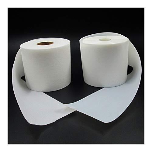 JIANDONG Gancho 5m Super Suave y Delgada Cinta de Lazo de Cinta Adhesiva de Nylon Sujetador de Cinta Accesorios de Costura Suministros (Size : White 4cm X 500cm)