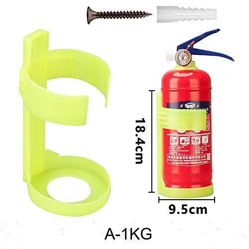Fire Extinguisher Hook, Co2 Feuerlöscher Haken, Feuerlöscher Wand Halterung 1 Kg, 2 Kg, 3-5 Kg, 6kg (A-1KG)