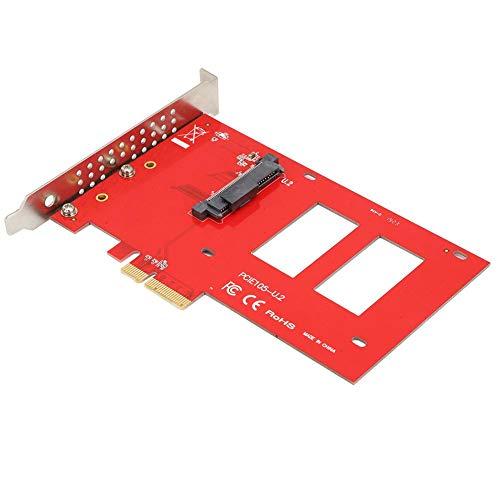 Tarjeta de expansión Tarjeta de expansión PCIe Tarjeta de Adaptador SSD Tarjeta de Adaptador PCIE Tarjeta de Adaptador de Disco Duro,Jadpes Tarjeta adaptadora PCIe Riser, Unidad