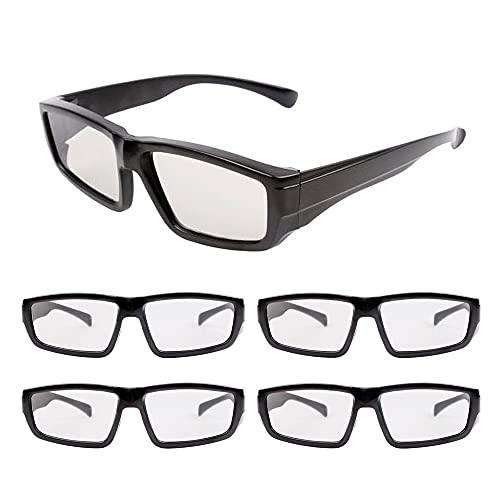 Gobesty Gafas 3D, Gafas de Cine 3D polarizadas pasivas Unisex, TV LG 3D pasiva, para Ver películas Paquete Familiar Lentes polarizadas Circulares