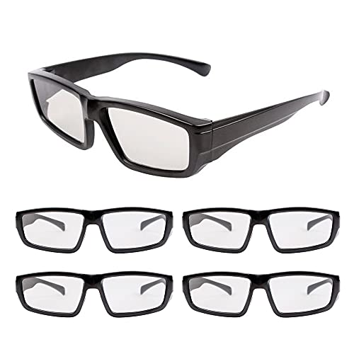 Gobesty 3D Brille, Unisex Passive Polarisierte 3D-Kino-Brille, Alle Passiven 3D TV LG, zum Ansehen von Filmen Family Pack Circular Polarized Lenses