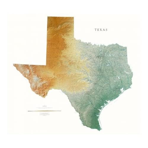 topical map of texas Amazon Com Texas Topographic Wall Map By Raven Maps Print On Paper Non Laminated Home Kitchen