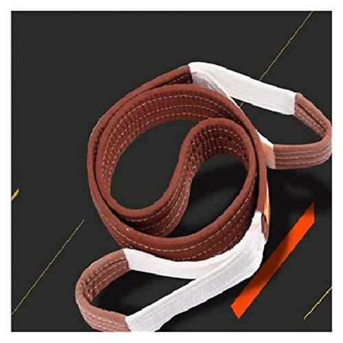 JINSUO Lift Sling Riemen, 6.5 X2 Heavy Duty Flat Eye Lift Sling 10lbs Capaciteit Hefbanden Nylon Boom Saver Recovery Stra (Lengte: 2m)