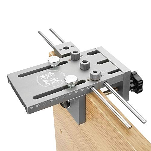 Kit de Guía de Perforación de Taladros Plantilla de Espiga Autocentrante con 6/8/10mm Casquillos de Perforación y Taladro Helicoidal para Carpintería