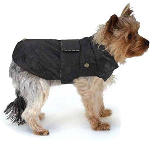 CROCI, MONTREAL, Cappotto per cani, Mantello invernale, Giacca impermeabile, Taglia 40cm, Nero