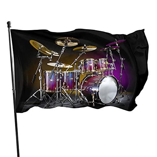 GOSMAO Kit de batería de Bandera de jardín Color Vivo y Resistente a la decoloración UV Banner de Patio de Doble Costura Bandera de Temporada Bandera de Pared 3x5 pies