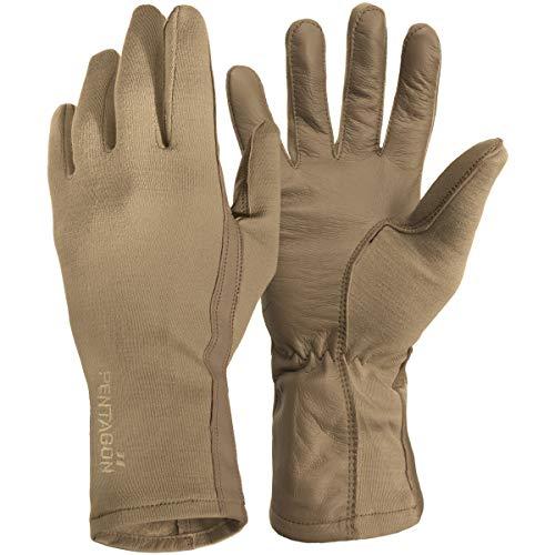 Pentagon Herren Lange Stulpe Pilot Handschuhe Coyote Größe XXL