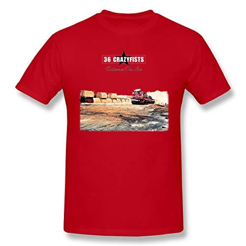 36 Crazyfists Men's T-Shirt Soft Leisure Graphict Shirtshort Sleeve Red Small