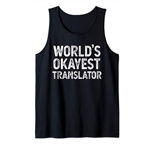 Regalo de traductor divertido El mejor traductor del mundo Camiseta sin Mangas