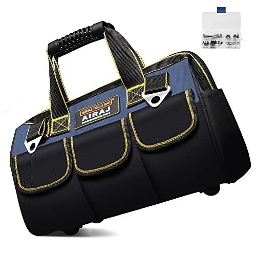 AIRAJ Werkzeugtasche,33×21×25cm,Faltbare Werkzeugtasche mit Innentasche zur Aufbewahrung von...