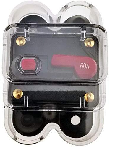 XinYiC Disyuntor de circuito con motor de remolque, para coche, barco, bicicleta, estéreo, de audio, con cubierta impermeable (60 A)