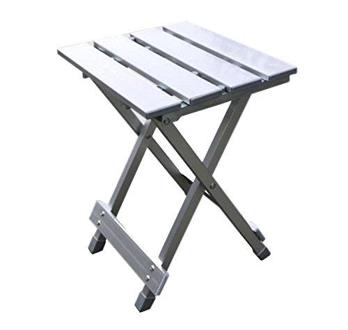 Portable Camping Tisch Aluminium Stuhl zusammenklappbar Angeln Stuhl zum Angeln im Freien Ultraleicht Faltbare für Roll-up Klapptisch für Picknick, Camping, Wandern, Reisen, Angeln, Strand