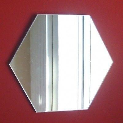 Servewell - Specchio da parete esagonale, 12 x 12 cm