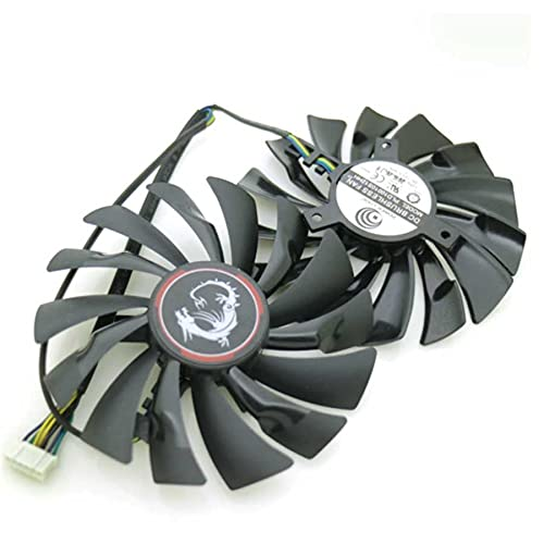 A Set PLD10010S12HH 95mm 12V 0.40A 6Pin VGA Fan For MSI GTX980Ti GTX970 GTX980 Graphics Card Cooler Cooling Fan 6Wire 6Pin