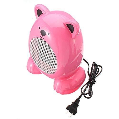 Yuan Dun'er Radiadores electricos bajo Consumo Aceite,Mini Calentador de Aire eléctrico portátil Práctico soplador Calentador de Invierno Calefacción Oficina en el hogar-Rosado
