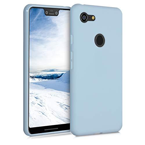 kwmobile Hülle kompatibel mit Google Pixel 3 XL - Hülle Silikon - Soft Handyhülle - Handy Hülle in Hellblau matt