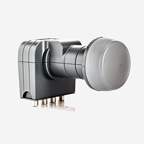 Fuba DEK 417 Quad LNB - Quad Universal LNB / Quattro-Switch LNB 4 Teilnehmer mit optimaler Mobilfunkabschirmung, mit Wetterschutzgehäuse (digital, HDTV-tauglich, 4K/UHD-tauglich, 3D-tauglich)