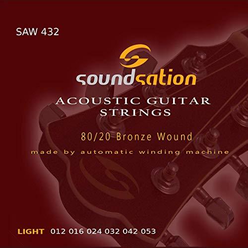 Cuerdas para guitarra acústica SOUNDSATION SAW432 tensión (12-53) light