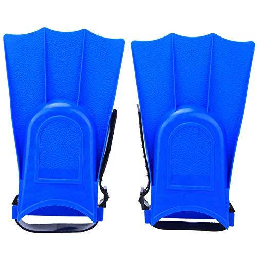 wosume 1 par de Aletas Cortas de Buceo para niños Aletas de Entrenamiento de natación de PVC Aletas de Buceo Ligeras(Blue, 25 Yards -30 Yards)