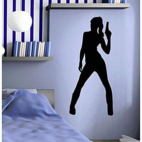 JXFM schoenen met hoge hak agent meisjes patroon gepersonaliseerde sticker thuis 42x94cm