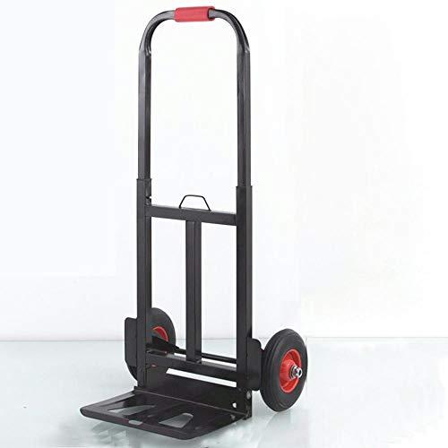 MIZE Stahl Klappbarer Transportwagen Faltbar Leichtgängige Räder mit Soft-Laufflächen und bis 150 kg,Schwarz Einkaufstasche Rollen für Klettertreppen Hand Truck