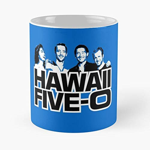 Badge 0 Beach Hawaii O Five Police Best 11 oz Kaffeebecher - Nespresso Tassen Kaffee Motive