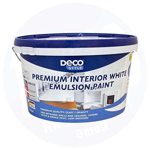DECO STYLE Meisterweiß 5 L Weiß Matt 35 m²Innenfarbe Wandfarbe