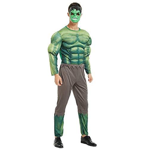 Hcxbb-b Fantasía, el músculo adulto Vengadores Spider-Man superhombre del capitán América Iron Man Optimus Prime ropa Cosplay Hulk (Color : Hulk, Size : OneSize)