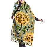 shenguang bufanda de invierno para mujer Cashmere Feel Tropical Tropical Bufandas elegantes chal envuelve suave manta cálida bufandas para mujer