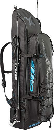 Cressi Piovra Fins Backpack, Borsa a Zaino per l'Attrezzatura da Pesca Sportiva Unisex Adulto, Nero, XL