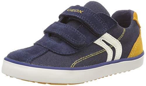 Geox B Kilwi Boy G, Zapatillas Bebé-Niños, Navy/Dk Yellow C4229, 20 EU