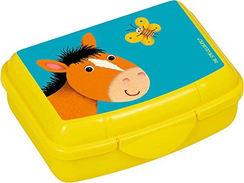 Spiegelburg Brotdose Pferd Snackbox Lunchbox Melamin Schule Kinder Gelb