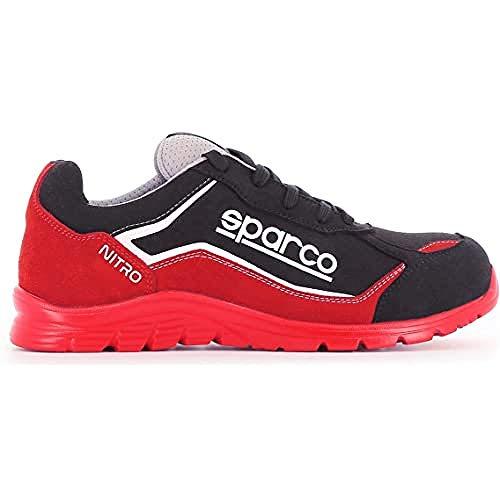 Sparco - Zapatillas Nitro S3 Rojo/Black talla 41 EU (S0752241RSNR) ⭐