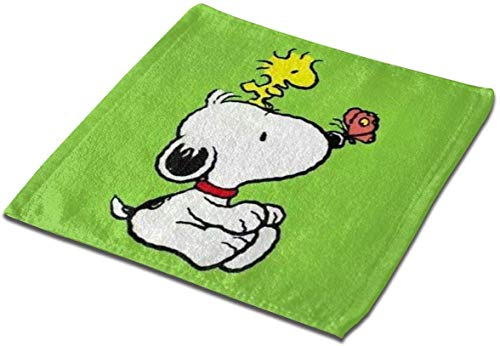 not applicable Mikrofaser quadratisches Tuch, Snoopy mit Schmetterling Soft Skin-Frendly Sweat Handtuch Gesicht Handtuch Hand Handtuch-