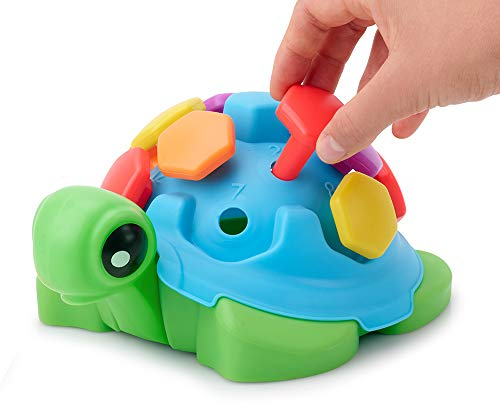 TOYPIX Counting Turtle Toy for Toddlers - Fine Motor Skills Peg Toys for Kids 1-3 | Practice Shape...