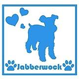 ForzaGroup(フォルザグループ) 全犬種 全猫種対応 ミニチュアシュナウザー(7301) 犬 イヌ いぬ dog 防水 車 ステッカー sticker シール 名前入れ 14cm×14cm (ブルー)
