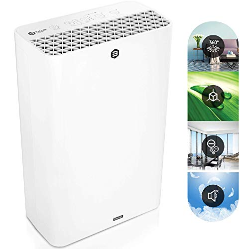 Balter LR-01 Luftreiniger, 4 Fach Filter mit HEPA, 99,97% Luftfilter Leistung, CADR 230m³/h, bis zu 42m2, Leise Schlafmodus, Ionisator, für Allergiker, gegen Staub Viren Pollen Tierhaare
