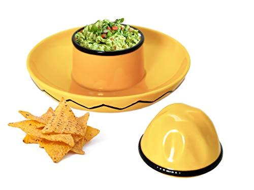 Vallenwood Mexikanische Sombrero, Dip & Chip Schüssel für Nachos, Doritos, Guacamole Snack Anlass Theke Tafelaufsatz Nachosaurus