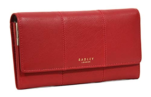 RADLEY Large Flapover Matinee Purse Page Street in Red Leather