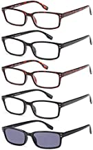Gamma Ray Reading Glasses - 5 Readers for Men Women - w Reader Sunglasses - 3.00